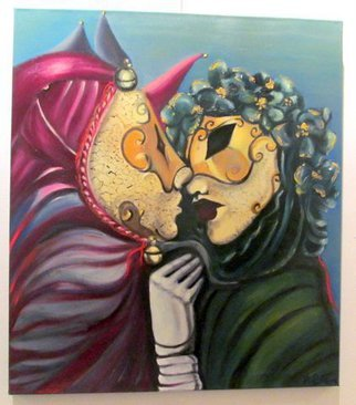Artist: Hebe Beatrice Alioto - Title: Venetian mask - Medium: Oil Painting - Year: 2014