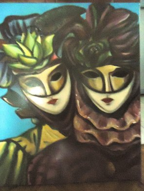 Artist: Hebe Beatrice Alioto - Title: Venetina mask - Medium: Oil Painting - Year: 2014