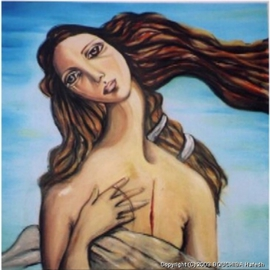Hebe Beatrice Alioto: 'hommage to Botichelli ', 2003 Acrylic Painting, Figurative. Artist Description:  acrylic painting ...