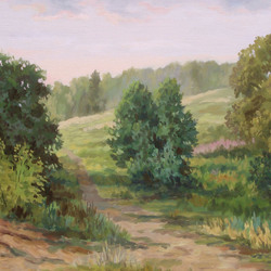 , Evening Of A Hot Day, Landscape, $924
