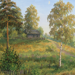 , Young Month In The July E, Landscape, $892