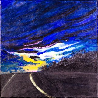 Allison Karczynski Artwork driving darkness, 2016 Acrylic Painting, Sky