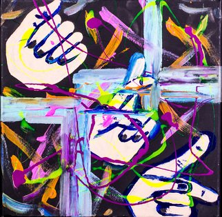 Allison Karczynski Artwork sign your initials, 2016 Acrylic Painting, Abstract
