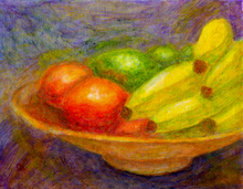 - artwork Bananas_Tomatoes_and_Limes-1238347987.jpg - 2009, Painting Acrylic, Still Life
