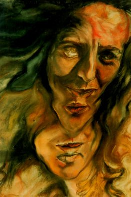 Arlene Rabinowitz: 'Multi Facet Faces', 1992 Pastel, Portrait. Artist Description:  Multi parts of a female portrait ...