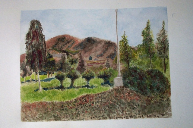 Armineh Bakhtanians  'Hills Of Covina II', created in 2000, Original Pastel Oil.