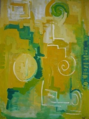 Landh Armand: 'buscando', 2003 Oil Painting, Abstract.