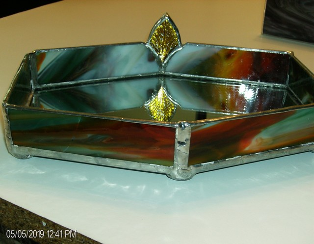 Arnold Cecchini  'Cosmetic Tray', created in 2018, Original Glass Stained.