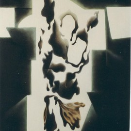Rafael Arrieta-eskarzaga: 'Berbizkunde ', 1995 Oil Painting, Abstract Figurative. Artist Description:  An abstract interpretation of the Resurrection with light suggesting a cross. ...
