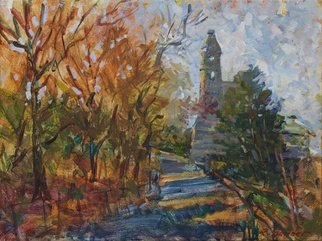 Artist: Rafael Sander - Title: Sunny Autumn Day - Medium: Oil Painting - Year: 2011
