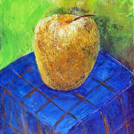 Apple2014year15x11in Original Painting Oil on Canvas