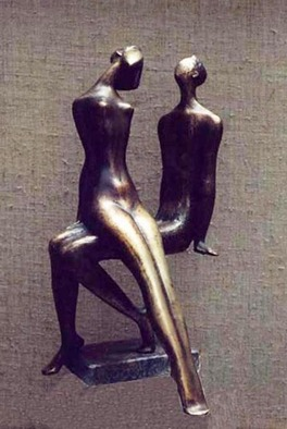 Bronze Sculpture by Zakir Ahmedov titled: I am and SHE, created in 1997
