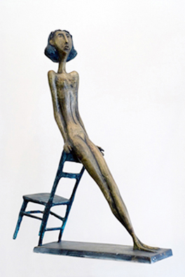 Bronze Sculpture by Zakir Ahmedov titled: Joung cirl , 2003