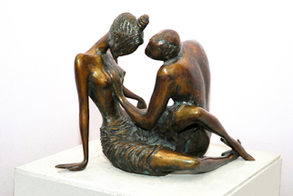 Bronze Sculpture by Zakir Ahmedov titled: LOVE, created in 2002