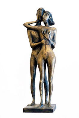 Bronze Sculpture by Zakir Ahmedov titled: MOMENT, created in 2002