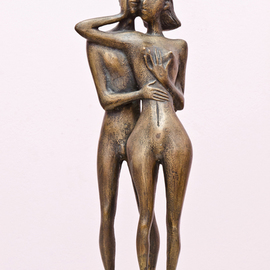 Zakir Ahmedov: 'MOMENT', 2002 Bronze Sculpture, nudes. Artist Description: MOMENT2002year. bronze 50x17x15. cm...