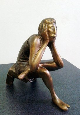 Zakir Ahmedov Artwork Meditation, 2012 Bronze Sculpture, Abstract