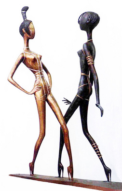 Bronze Sculpture by Zakir Ahmedov titled: Modern moda , 2002