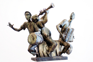 Bronze Sculpture by Zakir Ahmedov titled: Musicion , created in 2007