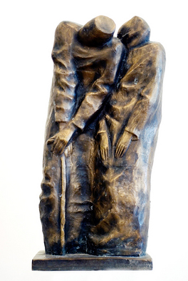 Bronze Sculpture by Zakir Ahmedov titled: Oldes, created in 2000