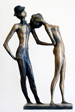 Bronze Sculpture by Zakir Ahmedov titled: Retro, created in 2005