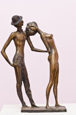 Zakir Ahmedov Artwork Retro, 2005 Bronze Sculpture, Figurative