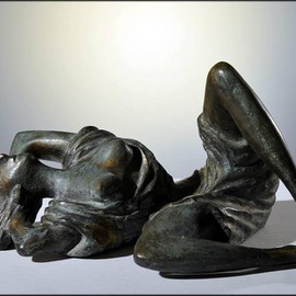 Zakir Ahmedov: 'SUMMER', 2009 Bronze Sculpture, nudes. Artist Description:  SUMMER 2009 year bronza 40x25x18cm...