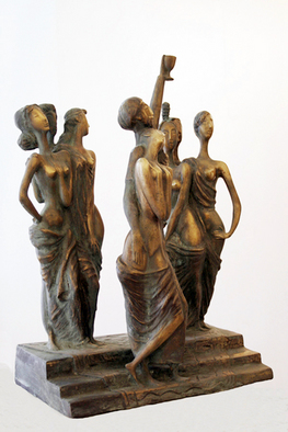 Bronze Sculpture by Zakir Ahmedov titled: Seven beautiful, 2005