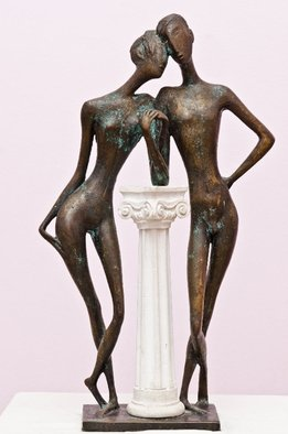 Zakir Ahmedov: 'Tenderness', 2002 Bronze Sculpture, Figurative. Artist Description:  Tenderness 2002 year. bronze 62x35x15sm. ...