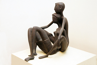 Bronze Sculpture by Zakir Ahmedov titled: The siting lover , created in 2005