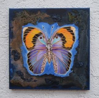 Amans Honigsperger Artwork Flights of Blue Fantasy, 2011 Acrylic Painting, Fantasy
