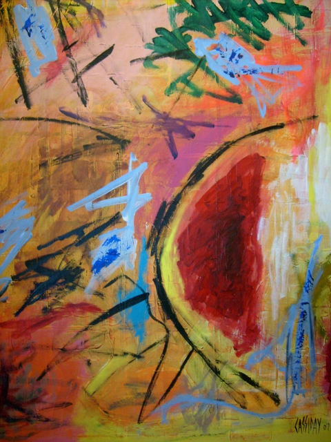 Bud Cassiday  'Incipience', created in 2008, Original Painting Acrylic.