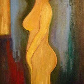 Bud Cassiday: 'Nude Study ', 2008 Acrylic Painting, Nudes. Artist Description:  This is a small nude study I did in April of 2008.  ...