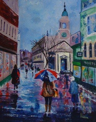 Valerie Curtiss Artwork Colour in the Rain, 2015 Colour in the Rain, Cityscape