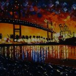 Night on the Bridge By Valerie Curtiss