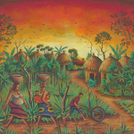 village african villagers By Angu Walters