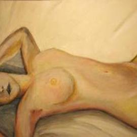Rodolfo Chavarriaga: 'nude woman', 2000 Acrylic Painting, Nudes. Artist Description:  study nude woman...