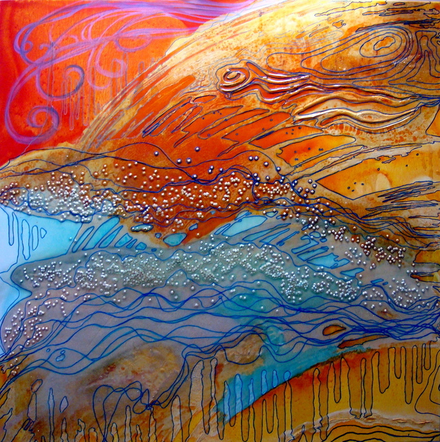 Artist Carla Goldberg. 'Searching The Passage' Artwork Image, Created in 2008, Original Mixed Media. #art #artist