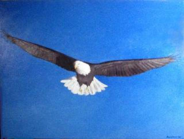 Painter Artdiem  'Eagle', created in 2006, Original Painting Acrylic.