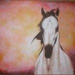 White Horse By Painter Artdiem