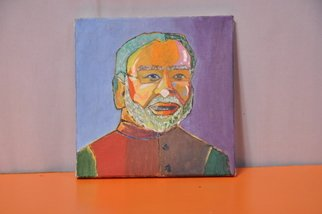 Saumya Sharma Artwork narendra modi, 2016 Acrylic Painting, Pop