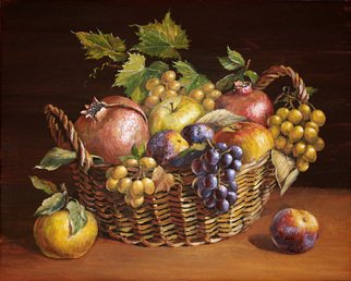 Artemis  Artists Association Artwork The basket of fruit, 2012 Acrylic Painting, Still Life