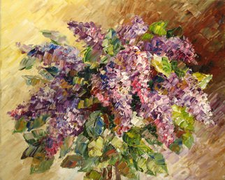 Artemis  Artists Association Artwork The lilac, 2009 Oil Painting, Still Life