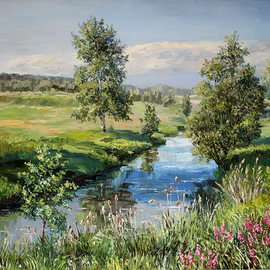 landscape with a river By Artemis  Artists Association