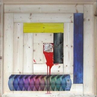 Undefined Medium by Rossano Di Cicco Morra titled: Modulo di comportamento spaziale Reliquiario erotico mentale d artista, 2011