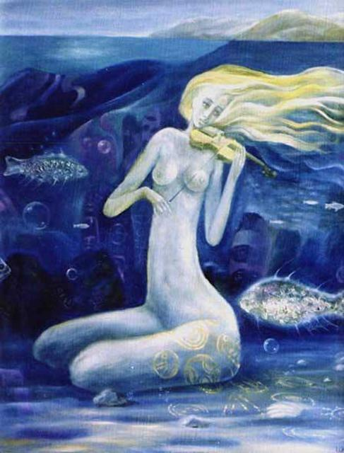 Artist Izya Shlosberg. 'Mermaid VI' Artwork Image, Created in 2003, Original Painting Other. #art #artist
