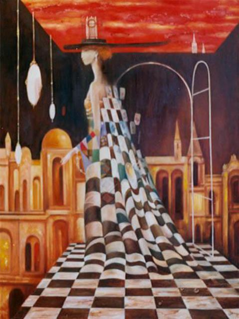 Izya Shlosberg  'Queen Of Games', created in 2005, Original Painting Other.