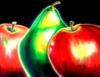 Katie Puenner Artwork Fruity Trio, 2014 Oil Painting, Food