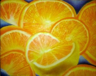 Katie Puenner Artwork Oranges, 2015 Oil Painting, Food