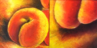 Katie Puenner Artwork Peachy Three and Four, 2014 Oil Painting, Food